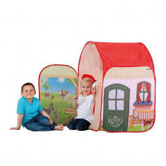 Cort pentru copii Farm World Schleich, 72 x 72 x 105 cm, 3 ani+, Multicolor