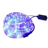 Instalatie Tip Furtun Luminos LED pentru Craciun, Lumina Albastra, Exterior Interior, Lungime 10m, 240 LED-uri