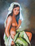 Tablou / Pictura nud semnat Cimpoesu.