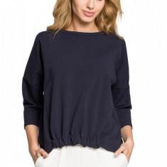 Bluza cu maneci trei sferturi, bleumarin, L/XL, S/M