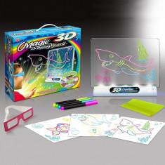 Tablita 3D pentru desen, stand iluminat, markere, ochelari 3D, sabloane