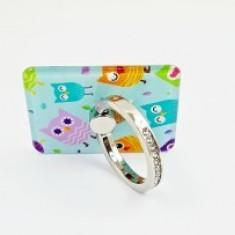 Suport telefon Diamonds tip inel metalic model Owl