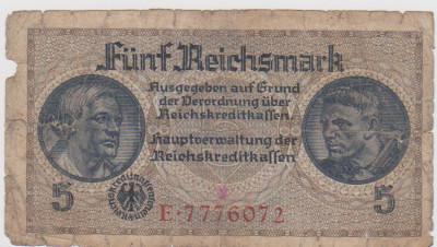 5 REICHS MARK GERMANIA FARA AN APROXIMATIV 1933 F SPRE F foto