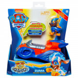 Figurina cu vehicul Paw Patrol Deluxe Vehicle Mighty Pups, Zuma 20121277