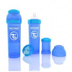 Biberon Anti colici 330 ml Twistshake Albastru