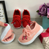 Cumpara ieftin Adidasi roz moi usori material textil pt fetite 22 24 25 26 27 28 29 30, Fete