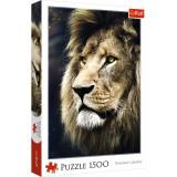 Puzzle clasic - Portret leu, 1500 piese, Trefl