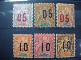 SENEGAL  1912 SERIE MH, Nestampilat