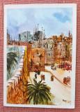 Ierusalim, Poarta Jaffa - Ronnie Goldberg - Carte postala datata 1978 circulata, Israel, Printata