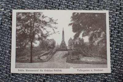 AKVDE19 - Vedere - Braila - Monumentul din gradina publica foto