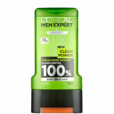 Gel de dus LOreal Men Expert Clean Power, 300 ml