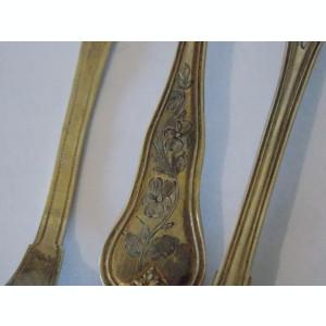Set lingurite argint aurite vintage -9001