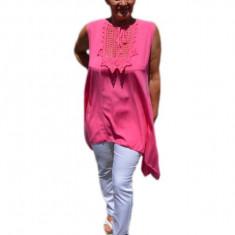 Bluza casual,de vara fara maneca ,nuanta de roz