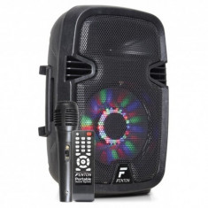 Boxa portabila cu microfon 8',Bluetooth/USB acumulator LI-ON FT8LED