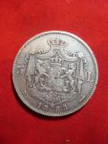 Moneda 5 lei 1883 Carol I ,argint , cal. f.buna