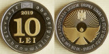 Moldova 10 Lei 2019 (30 years of state language and latin writing)25.3mm UNC !!!, Europa