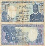 1988 (1 I), 1.000 francs (P-16a.3) - Republica Centrafricană!