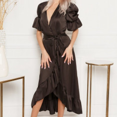 Rochie de mătase cu volane