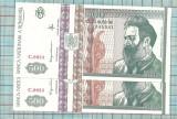 Bancnota 500 lei 1992 consecutiv-seria-C0033..540-1