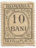 România, LP IV.12/1920, taxă de plată, h. albă, fără filigran, eroare 2, MNH