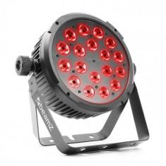 Beamz BT320 LED FLAT PAR, reflector led, 18 x 6 W, 4în1, RGBWA UV, telecomandă