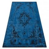 Covor Vintage 22205073 albastru rozetă clasică, 160x230 cm