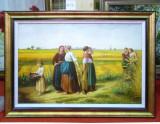 Tablou pictat manual pe panza in ulei Peisaj Vara A-432, Natura, Realism