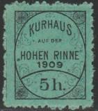 1909 Romania - Posta locala Paltinis, Hohe Rinne 5h semnat pe verso MNH