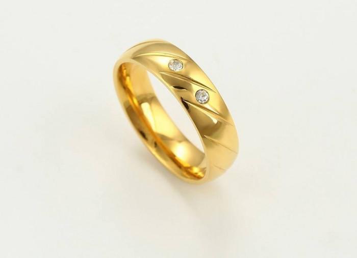 Verigheta inox placat Aur 24K,marime 7US,diametru 17,3mm