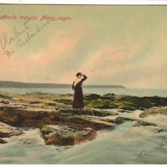 SV * Romania  MAREA NEAGRA * Pe Stancile Malului Marei Negre * 1908    BALCIC ?!, Circulata, Fotografie, Printata, Constanta