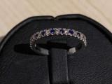 Inel cu diamant si safir
