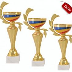 Set Cupa metal-plastic-marmura, 34cm Locul I, 31,5cm Locul II, 29cm Locul III