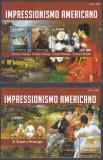 Cumpara ieftin DB1 Pictura Sao Tome Tiraj 1000 Impresionisti Americani MS + SS MNH, Nestampilat