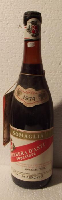 77 - VIN BARBERA D'ASTI SUPERIORE, DOC, SOMAGLIA recoltare 1974 cl 72 gr 13