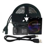 Banda LED RGB pentru iluminare ambientala pentru monitor sau laptop, 3m, 60..., Siegbert