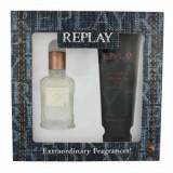Cumpara ieftin Set cadou Replay Jeans Original (Apa de toaleta 30 ml + Gel de dus 100 ml), pentru barbati