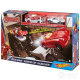 Jucarie Marvel Track Sets Iron Man Armor Up Launcher