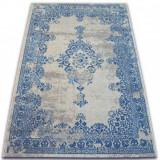 Covor Vintage Rozetă 22206/063 albastru si cremă, 120x170 cm