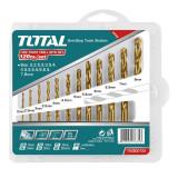 Cumpara ieftin Set burghiu pentru metal HSS Total, 12 bucati