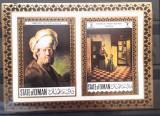 Oman arta pictura bloc nedantelat mnh , Rembrandt, Pieter de Hooch, Nestampilat