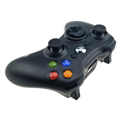 Controller wireless compatibil XBOX 360 sau PC, Negru foto