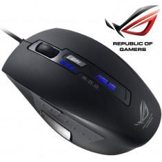 Mouse gaming Asus ROG GX850, Laser, cu fir, maxim 5000dpi, Negru