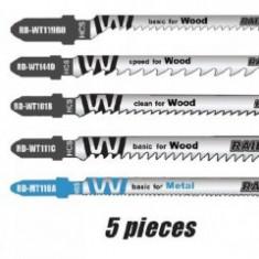 Set 5 panze fierastrau pendular lemn si metal, Raider