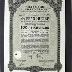 Titlu De Stat Obligatiune Germania 1941-100-Reichsmark