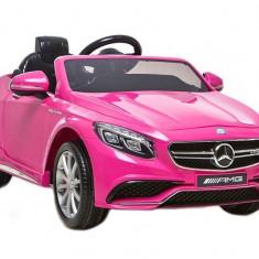 Masinuta electrica Mercedes-Benz S63 AMG, roz