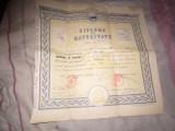 Diploma de maturitate an 1961 scoala emil racovita la seral x19