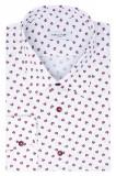 Camasa Barbati Alba Print Floral Slim Bumbac C001SL TC010