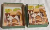 Jucarie veche de colectie JOC VECHI ROMANESC - Cuburi Ilustrate - 1968
