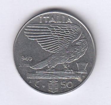Italia - 50 Centesimi 1940 (L2) foto