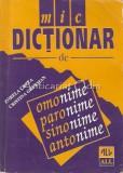Cumpara ieftin Mic Dictionar De Omonime, Paronime, Sinonime, Antonime - Zorela Creta
